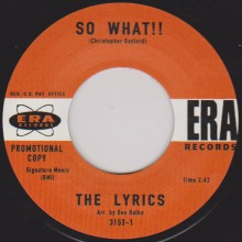 "LYRICS ""SO WHAT!! / THEY CAN'T HURT ME"" 7"""