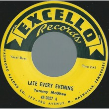 "TOMMY McGHEE ""POPPIN' / LATE EVERY EVENING"" repro 7"""