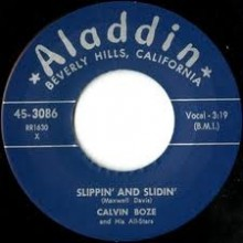 "Calvin Boze & His All-Stars ‎""Slippin' And Sliding / Baby, You're Tops With Me"" 7"""
