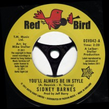 "Sidney Barnes ""You'll Always Be In Style/ I Hurt On The Other Side"" 7"""