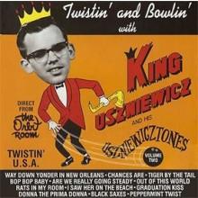 """KING USZNIEWICZ & HIS USZNIEWICZ-TONES """"TWISTIN' & BOWLN'"""" LP"""