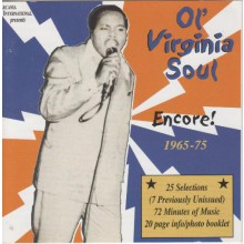OL' VIRGINIA SOUL PART 3: ENCORE! cd