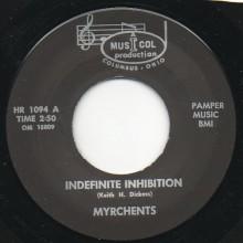 """MYRCHENTS """"INDEFINITE INHIBITION / ALL AROUND YOU"""" 7"""""""