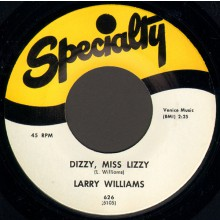 "LARRY WILLIAMS ""SLOW DOWN/DIZZY MISS LIZZY"" 7"""