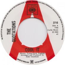 "QUOTATIONS ""COOL IT/THE MARK OF HER HEAD"" 7"""
