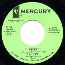 "LA LUPE ""FEVER/ OOOH"" 7"""