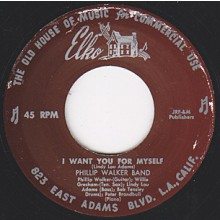 "PHILLIP WALKER ""I WANT YOU FOR MYSELF/ LOUISIANA WALK"" 7"""