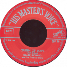 "CLARK RICHARD ""HOT ROCK BEAT b/w QUEEN OF LOVE"" 7"""