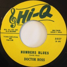 "DOCTOR ROSS ""NUMBERS BLUES / CANNONBALL"" 7"""