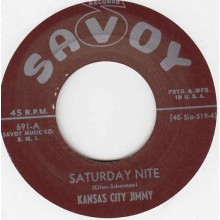 "Kansas City Jimmy ‎""Saturday Nite/Cheatin' Women"" 7"""