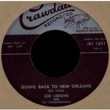 "JOE LIGGINS ""Going Back to New Orleans"" / ELLIS 'SLOW' WALSH ""New Orleans Is My Home"" 7"""