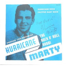 "HURRICANE MARTY ""Hurricane Rock/Calypso Baby Rock"" 7"""