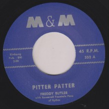 "FREDDY BUTLER ""PITTER PATTER / BOOGIE TWIST"" 7"""