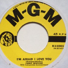 "JIMMIE NEWSOME ""I'M AFRAID I LOVE YOU/Long Gone Lonsome Blues"" 7"""