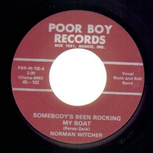 "Norman Witcher ""Somebody's Been Rocking My Boat/Wake Me Up"" 7"""
