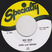 "DON & DEWEY ""JUSTINE/ BIM BAM"""