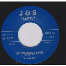 "V AND BB ""THEY JUST ROCKING & ROLLING / Let's Begin Again"" 7"""
