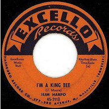 "SLIM HARPO ""I GOT LOVE IF YOU WANT IT / I'M A KING BEE"" 7"""