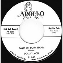 "DOLLY LYON ""PALM OF MY HAND /  CALL ME  DARLING"" 7"""