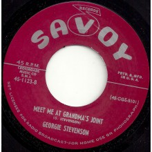 "GEORGIE STEVENSON ""TEASIN' TAN/ MEET ME AT GRANDMA'S JOINT"" 7"""