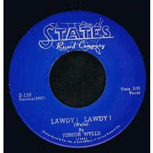 "JUNIOR WELLS ""LAWDY LAWDY/'BOUT TIME"" 7"""