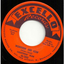 "LIGHTNIN' SLIM ""WONDERIN' AND GOIN' / MEAN OLE LONESOME TRAIN"" 7"""