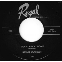 """DENNIS MCMILLON """"GOIN' BACK HOME/ POOR LITTLE ANGEL GIRL"""" 7"""""""