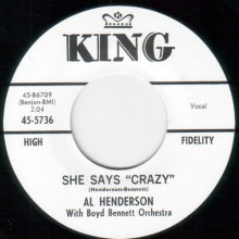 "AL HENDERSON ""SHE SAYS ""CRAZY"" / LAUGHING GIRL, CRYING BOY"" 7"""
