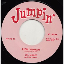 "LI'L MILLET ""RICH WOMAN"" / BILL PARKER ""SWEET POTATO"" 7"""