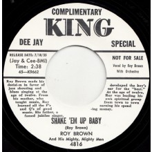 "ROY BROWN ""SHAKE 'EM UP BABY / LETTER TO BABY"" 7"""