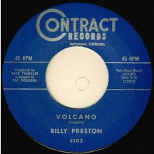 "BILLY PRESTON ""VOLCANO / YOUNG HEARTACHES"" 7"""