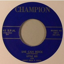 """LITTLE IKE With Jimmy Beck Orch. """"She Can Rock / Am I Losing You"""""""