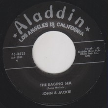 "JOHN & JACKIE ""LITTLE GIRL/THE RAGING SEA"" 7"""