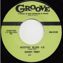 "SONNY TERRY ""HOOTIN' BLUES #2 / RIDE AND ROLL"" 7"""