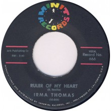 "IRMA THOMAS ""Ruler Of My Heart / Hittin' On Nothin'"" 7"""