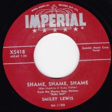 "SMILEY LEWIS ""SHAME SHAME SHAME/ NO NO"" 7"""