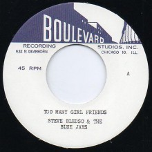 "STEVE BLEDSOE & THE BLUE JAYS ""Smooth Operator / Too Many Girl Friends"" 7"""