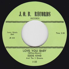 "EDDIE KING ""Love You Baby / Shakin Inside"" 7"""