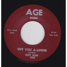 "RICKY ALLEN / JUNIOR WELLS ""CUT YOU A-LOOSE / CHA CHA CHA IN BLUE"" 7"""