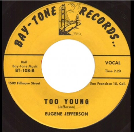 """EUGENE JEFFERSON """"I WON'T CRY NO MORE/ TOO YOUNG"""" 7"""""""