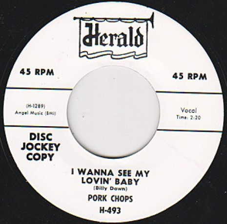 """PORK CHOPS """"I WANT TO SEE MY LOVIN' BABY / EVERYTHINGS COOL"""" 7"""""""