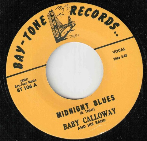 "BIG MAMA THORNTON ""YOU DID ME WRONG"" / BABY CALLOWAY ""MIDNIGHT BLUES"" 7"""