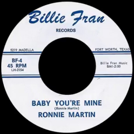 """RONNIE MARTIN """"BABY YOU'RE MINE / STORM OF LOVE"""" 7"""""""