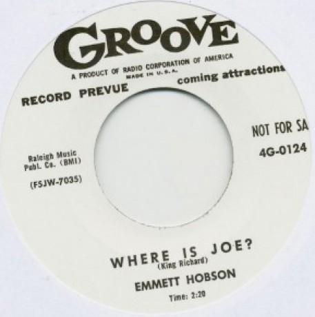 """EMMETT HOBSON """"MATTIE BEE / WHERE IS JOE?"""" 7"""""""