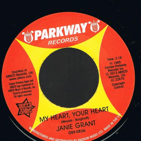 "Janie Grant ""My Heart, Your Heart""/ Evie Sands ""Picture Me Gone"" 7"""
