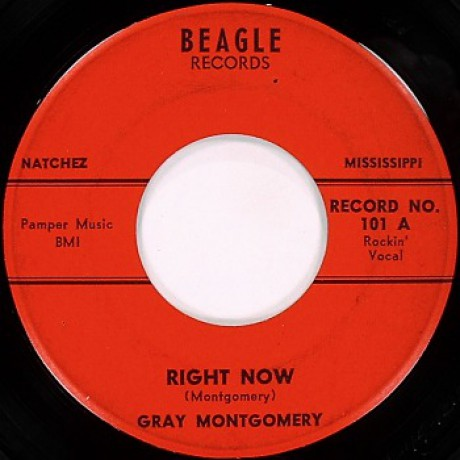 """GRAY MONTGOMERY """"Right Now / It's All Right"""" 7"""""""