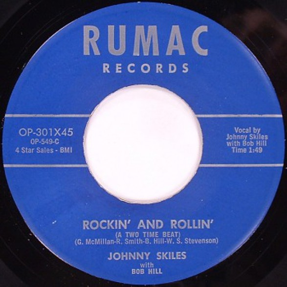 "JOHNNY SKILES ""Rockin' And Rollin' / Hard Luck Blues"" 7"""