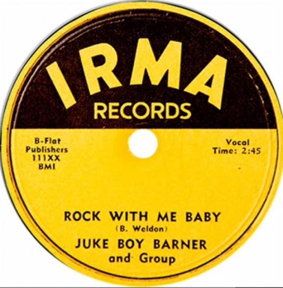"""JUKE BOY BARNER """"ROCK WITH ME BABY/WELL BABY"""" 7"""""""