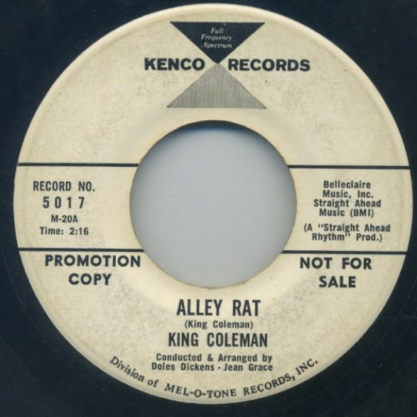 "KING COLEMAN ""ALLEY RAT/DRESSED IN PLAID"" 7"""