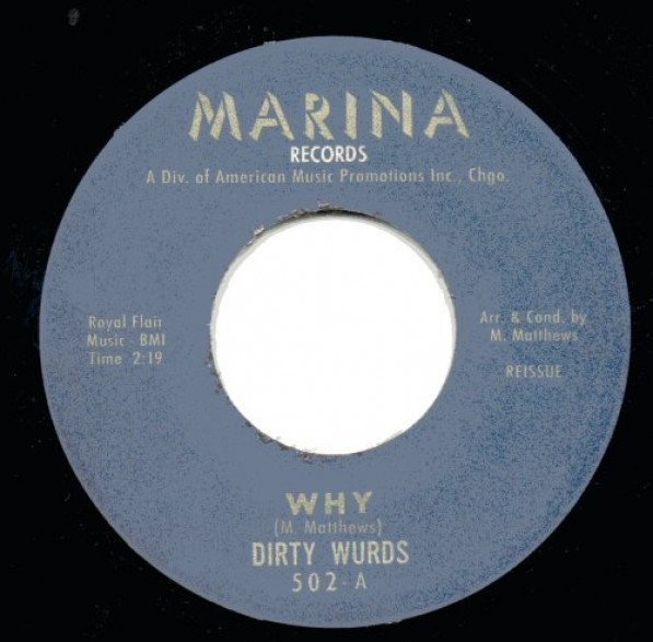 "DIRTY WURDS ""WHY/TAKIN' MY BLUES AWAY"" 7"""